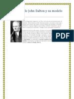Biografía de John Dalton y su modelo  atómico