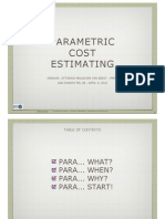 Parametric Cost Estimates