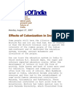 Effects of Colonization in India