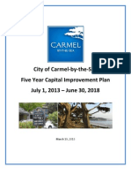 Five Year Capital Improvement Plan 2013-2018