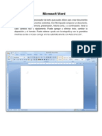 Procesador de Texto y Microsoft Word