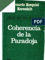 Korenblit_coherencia de La Paradoja