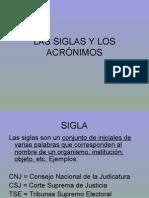 2. Las Siglas y Los AcrÓnimos