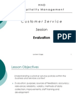 Customer Service Evaluation Session 3
