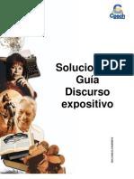 Solucionario Guía Discurso expositivo