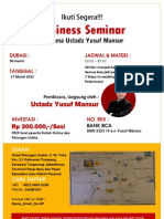 Bussiness Seminar Ustadz Yusuf Mansur