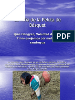 La Niña de la Pelota de Básquet