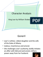 Character Analysis- King Lear