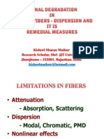 Dispersion in Optical Fibers due to signal degradation