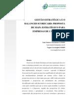 GESTÃO ESTRATÉGICA E O BALANCED SCORECARD PROPOSTA DE MAPA ESTRATÉGICO PARA EMPRESAS DE CALL CENTER