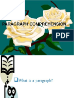 Paragraph Comprehension