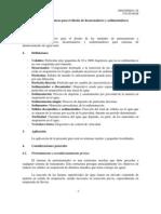 Especificaciones técnicas para el diseño de desarenadores