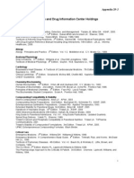 Appendix 29-J Poison and Drug Information Center Holdings