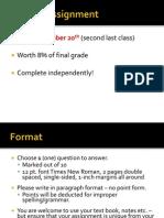 Psych 101 Written Assignment Details