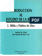 Antonio M Artola-José Manuel Sánchez Caro-Biblia y Palabra de Dios