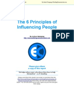 The 6 Principles of Influencing People