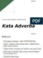 Kata Adverba