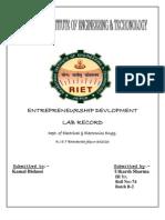 Entrepreneurship Devlopment(Utkarsh)