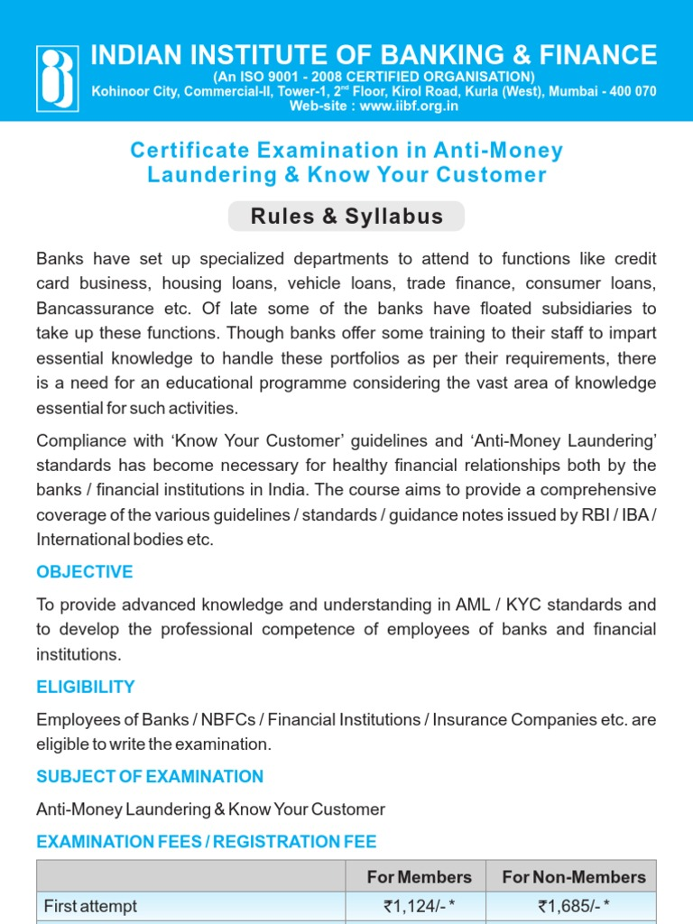 Aml kyc low 032013 1 money laundering test assessment 1betcityfo Choice Image