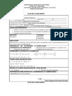 Plan de Clase Diario III e Ciclo Fredy Antonio.