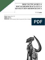 22928047 Ulianov v I Lenin Dos Tacticas de La Socialdemocracia en La Revolucion 1905 Ed Progreso 1961