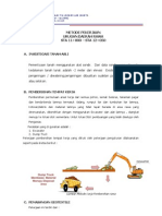 Metode Kerja Pekerjaan Geotextil Woven