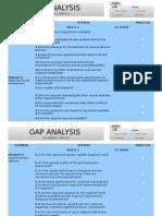 Gap Analysis (Vda vs Ts)