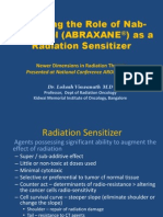 Abraxane (Nab Paclitaxel) as Radiation Sensitizer