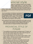 8. Provincial Style of Punjab