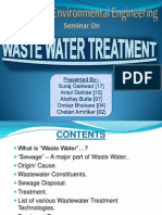 Waste Water Treatment Presentation