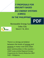 Policy Proposals for Community-Based Renewable Energy Systems SIBAT