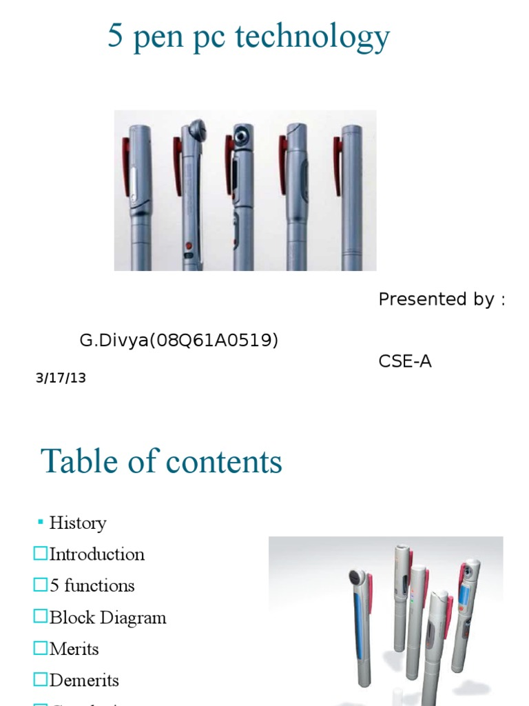 5 Pen PC Technology Powerpoint Presentation | Computer Keyboard | Personal  ComputersScribd