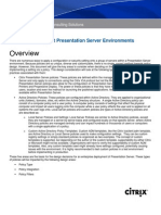 CPS-P - 4.5 - How Policies Impact Presentation Server Environments - Design Consideration 2007.07