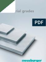 Materialqualitaeten material grade