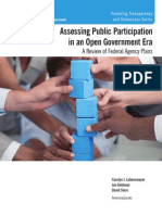 Assessing Public Participation in an Open Government Era