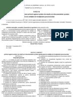 Ordin pentru aprobarea Regulamentului privind regimul actelor de studii și al documentelor școlare gestionate de unitățile de învățământ preuniversitar