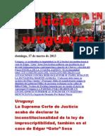 Noticias Uruguayas Domingo 17 de Marzo Del 2013