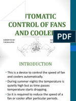 Automatic Control of Fans and Coolers