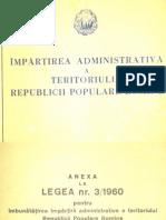 Impartirea Administrativa Regiunea Arges 1960