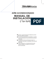 Tiburon Series - Aire Acondicionado Manual de Instalacion Tipo Split