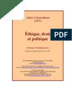 Schopenhauer Ethique Droit Politique