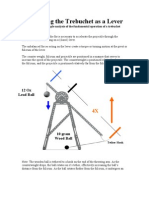 Analyzing the Trebuchet as a Lever