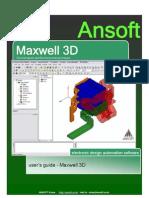 Ansoft Maxwell 3D v11 Userguide