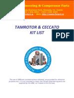 Tamrotor Ceccato Kit List 2009
