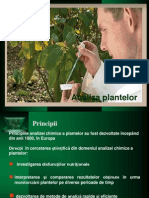 Analiza Plantelor