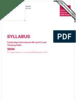 Syllabus Thinking Skills