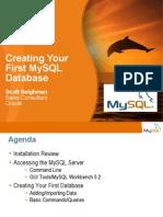 First My SQL DB