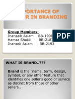 Importance of Colour in Branding