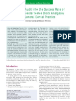 A Clinical Audit Into the Success Rate of Inferior Alveolar Nerve Block Analgesia in General Dental Practice