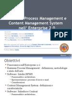 Business Process Management e Content Manager System nell'Enterprise 2.0